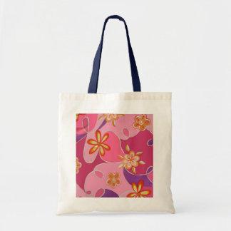 Bolso chillón rosado del diseño para ella bolsa tela barata