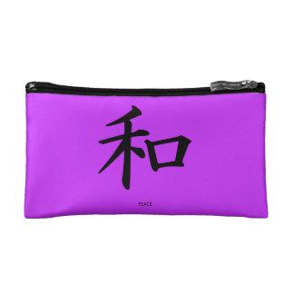 Bolso chino del cosmético del símbolo de paz