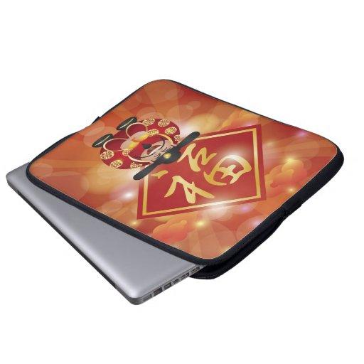 Bolso chino lindo de la electrónica de dios del di funda portátil
