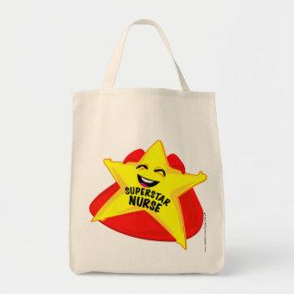 ¡bolso chistoso de la enfermera de la superestrell bolsas lienzo