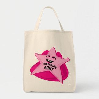 ¡bolso chistoso de la tía de la superestrella! bolsa