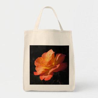 Bolso color de rosa amarillo y anaranjado bolsa tela para la compra