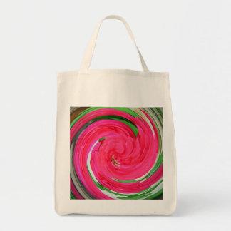 Bolso color de rosa del torbellino bolsa tela para la compra