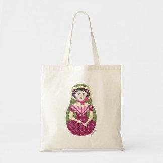 Bolso color de rosa inglés de Matryoshka Bolsa Tela Barata