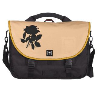 Bolso color de rosa negro del ordenador portátil d bolsas para portatil