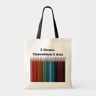Bolso coloreado del dibujo de lápices bolsa de mano