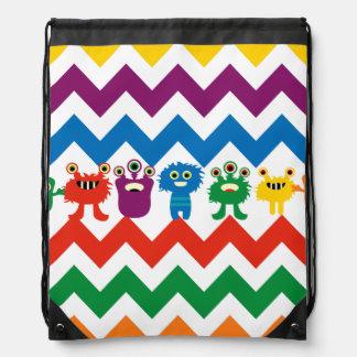 Bolso colorido de la cincha de los niños de los zi mochila