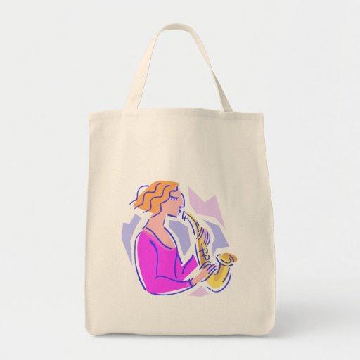 Bolso colorido de la música del saxofón bolsa tela para la compra