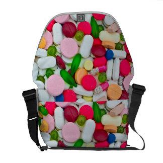 Bolso colorido de las píldoras bolsas de mensajería