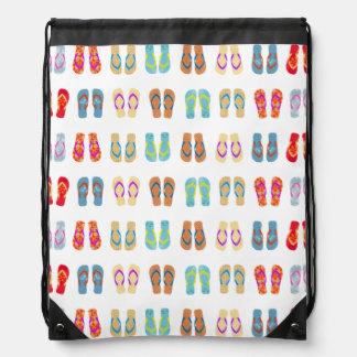 Bolso colorido de los flips-flopes de la playa del mochila