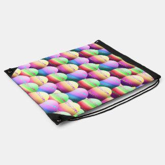 Bolso colorido de los huevos de Pascua Mochilas