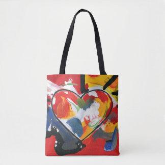 Bolso colorido del corazón bolsa de tela