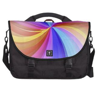 Bolso colorido del ordenador portátil del arco iri bolsas para portatil