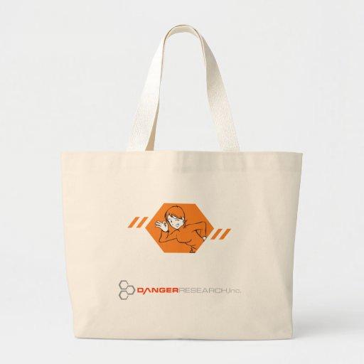 Bolso combinado del logotipo bolsa de tela grande