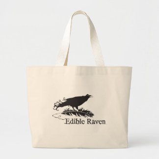 Bolso comestible del cuervo bolsa tela grande