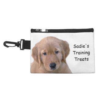 Bolso con clip de la invitación del perro del