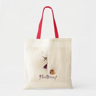 Bolso con diseño del feliz cumpleaños bolsa tela barata