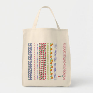 bolso con el código de barras del diseño de las fr bolsa tela para la compra