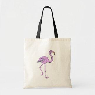 Bolso con el flamenco rosado bolsa tela barata