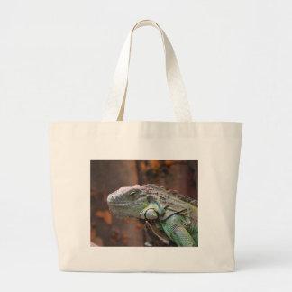 Bolso con el lagarto colorido de la iguana bolsa