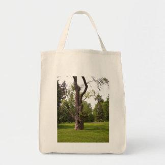 Bolso con estrías del árbol bolsa tela para la compra