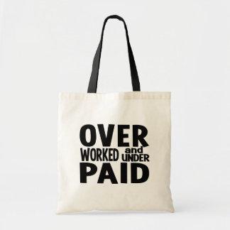 Bolso con exceso de trabajo - elija el estilo y el bolsas lienzo