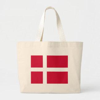 Bolso con la bandera de Dinamarca Bolsa De Mano