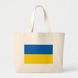 Bolso con la bandera de Ucrania Bolsa Tela Grande