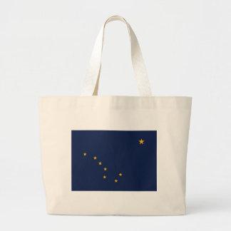 Bolso con la bandera del estado de Alaska - los E. Bolsa