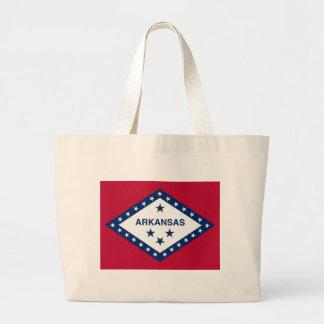 Bolso con la bandera del estado de Arkansas - los  Bolsas