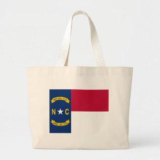 Bolso con la bandera del estado de Carolina del No Bolsas
