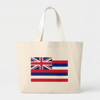 Bolso con la bandera del estado de Hawaii - los E. Bolsa Lienzo