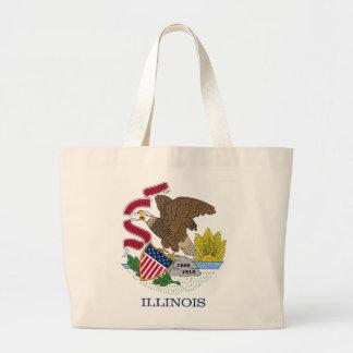 Bolso con la bandera del estado de Illinois - los  Bolsa