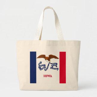Bolso con la bandera del estado de Iowa - los E.E. Bolsa