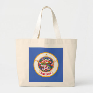 Bolso con la bandera del estado de Minnesota - los Bolsas