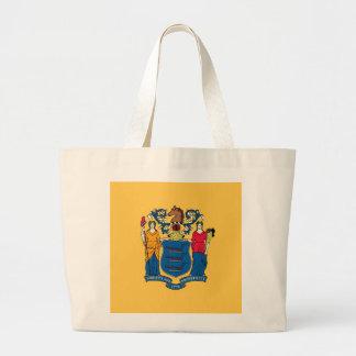 Bolso con la bandera del estado de New Jersey - lo Bolsa De Mano