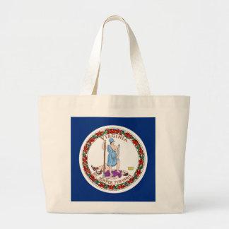 Bolso con la bandera del estado de Virginia - los  Bolsa De Mano