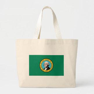 Bolso con la bandera del estado de Washington - lo Bolsas