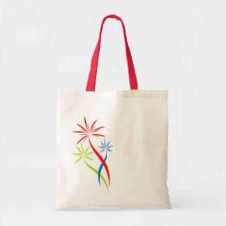 bolso con los fuegos artificiales creativos bolsa tela barata