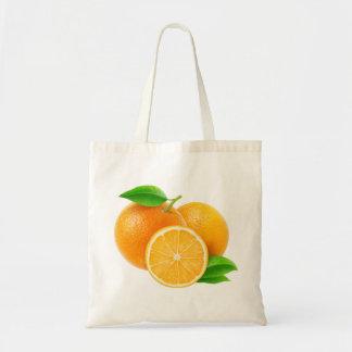 Bolso con los naranjas cortados bolsa tela barata