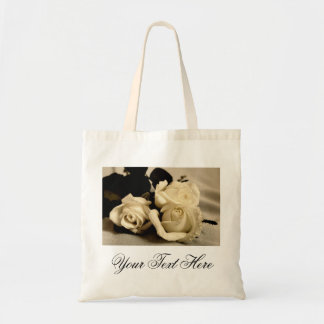 Bolso con los rosas bolsa lienzo