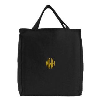 Bolso con monograma bordado personalizado bolsas bordadas