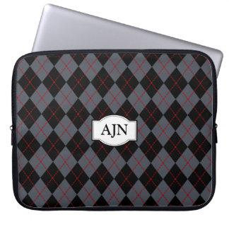 Bolso con monograma del ordenador portátil de Argy Fundas Ordendadores