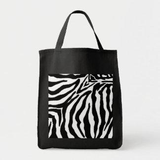 Bolso consciente de Eco del estampado de zebra bla Bolsa Tela Para La Compra