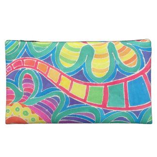 "Bolso cosmético (8"" x5"") con diseño abstracto"