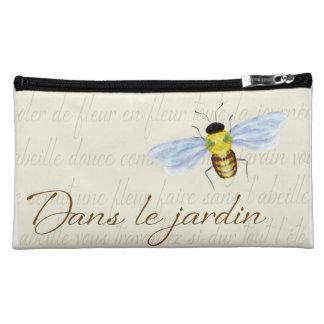 Bolso cosmético con la abeja del diseño francés y