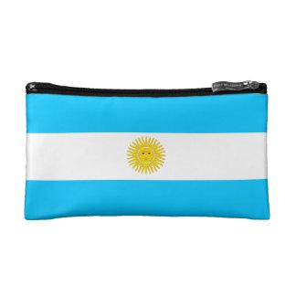 Bolso cosmético con la bandera de la Argentina