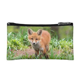 bolso cosmético con la foto del equipo del zorro