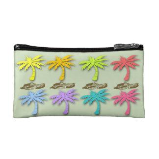 Bolso cosmético de las palmeras del verano pequeño