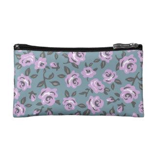 bolso cosmético de los rosas de la lavanda pequeño